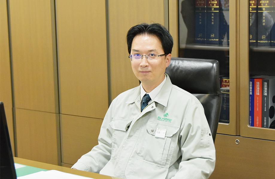サンライズ工業株式会社 取締役社長 中島 一郎 写真